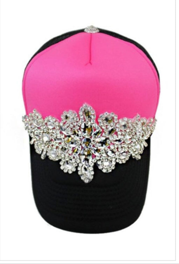 Pink Princess Jeweled Cap