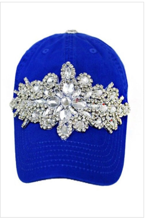 """Crowned"" Handmade Jeweled Cap"