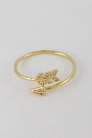 Gold Arrow Shaped Ring