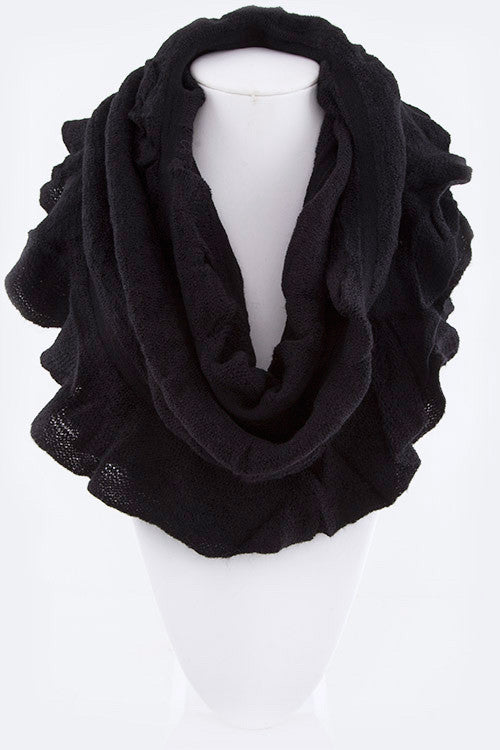 Ruffled Fashion Scarf