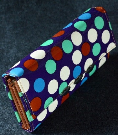 Blue Polka Dot Clutch