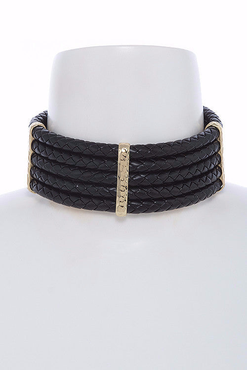 Braided Layered Choker