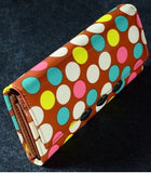 Brown Polka Dot Clutch