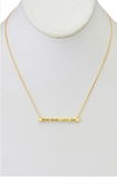 Dear Mom: I Love You Pendant Necklace