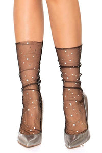 Stars and Moon Sheer Drop Socks