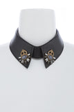 Leather Jeweled Collar