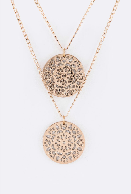 Filigree Double Pendant Necklace