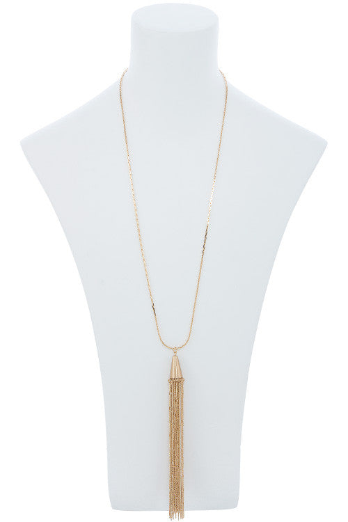 Fringe Tassle Pendant Necklace