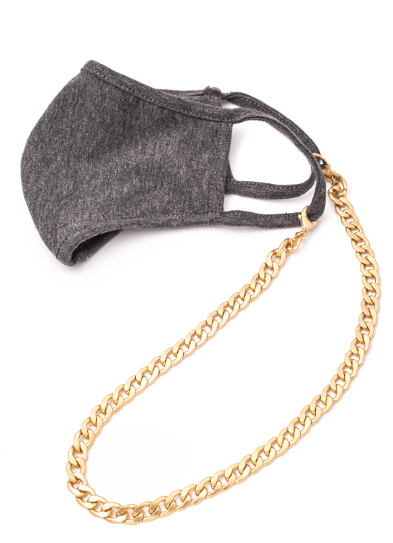 Matte Gold Link Mask Chain