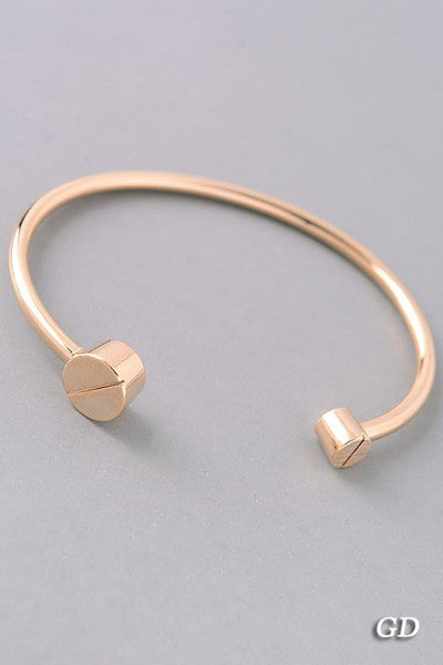 Gold Flathead Opened Bangle
