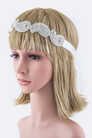 2:1 Crystal Paisley Convertible Headband/Belt
