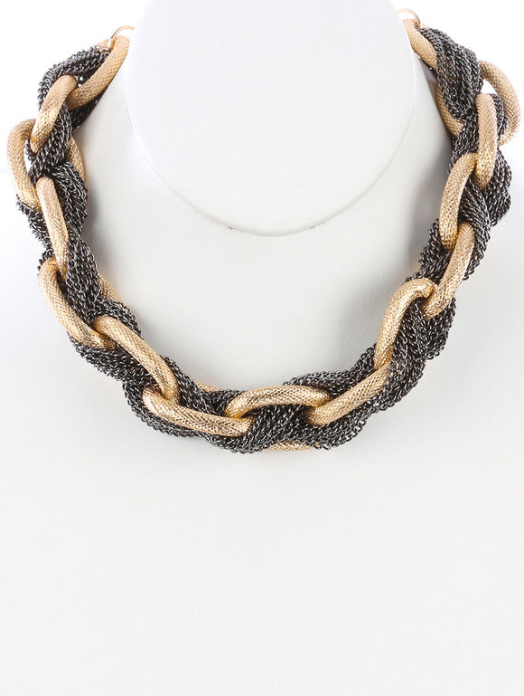 Interlaced Chunky Necklace