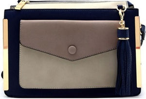 Isabella Color Block Handbag