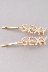 Pearl & Gold Sexy Hairpins