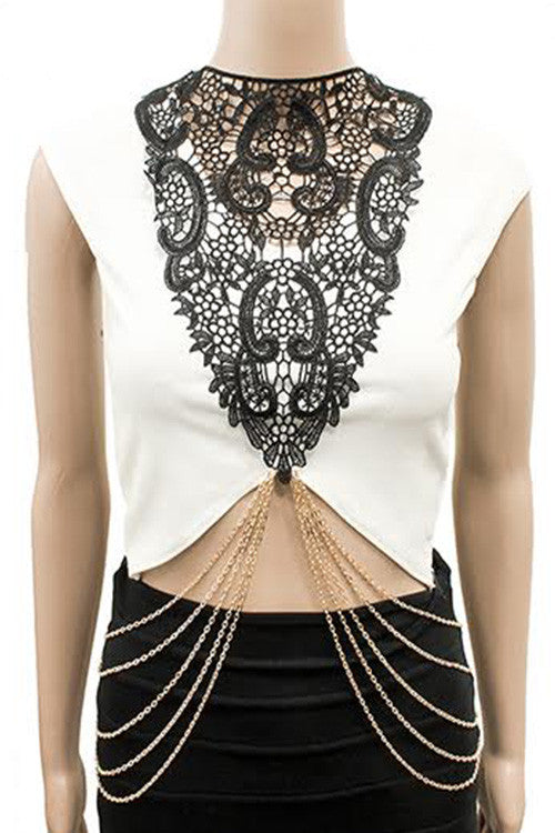 Lace Body Chain Top