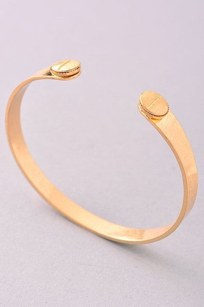 Matte Gold Open Ended Bangle