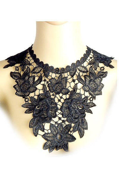 Floral Lace Bib Necklace
