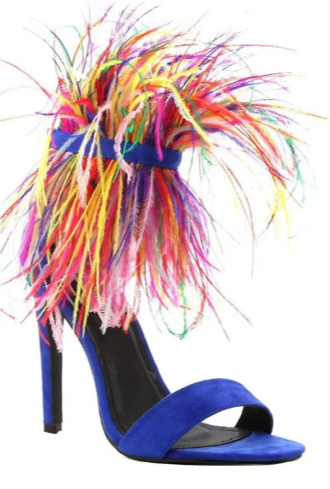 Paris Multi-Colored Feathered Sandal