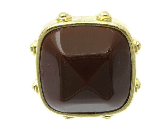 Brown Goddess Statement Ring