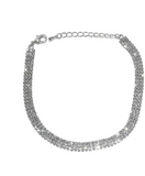 Three Layered Rhinestone Anklet