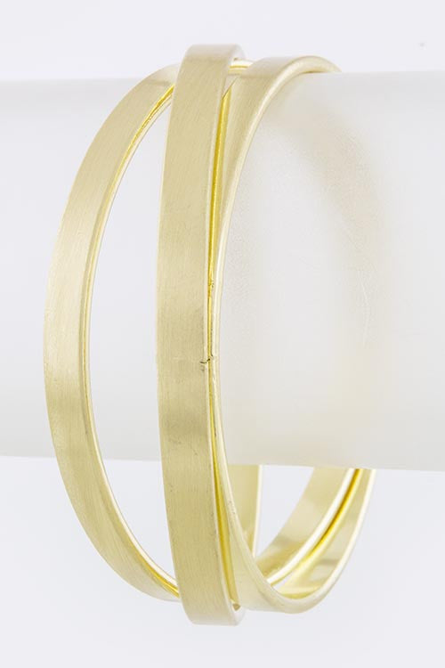 Triple Stacked Gold Bangle