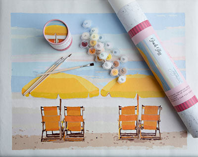 Beach Bliss Paint by Numbers Kit