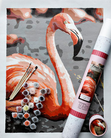 Frannie Flamingo Paint by Numbers Kit