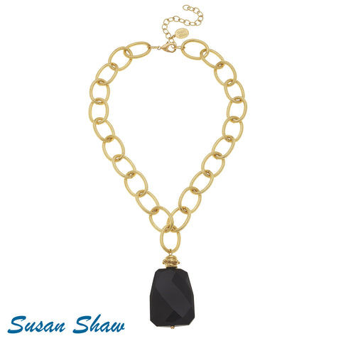 Susan Shaw Handcast with Black Onyx Necklace