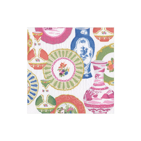 Caspari Meissen Paper Cocktail Napkins - 20 Per Package
