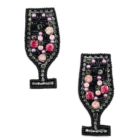 Wine down Wednesday Earrings