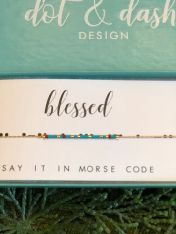 Dot and Dash Blessed Necklace