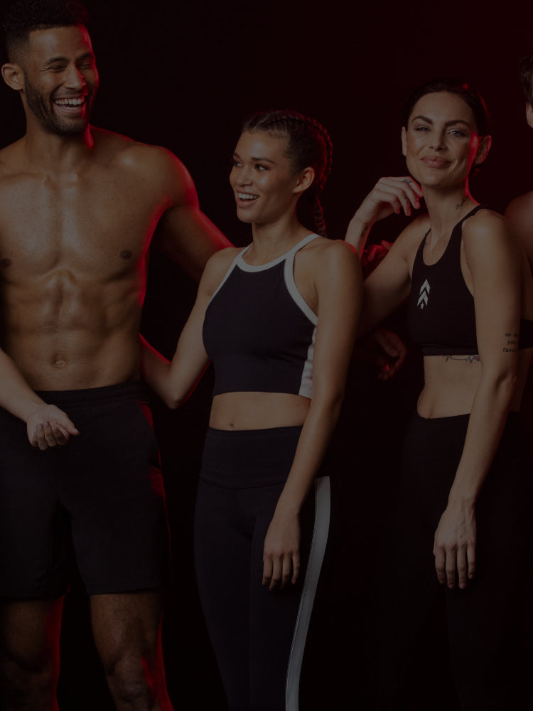 Athletes posing and smiling