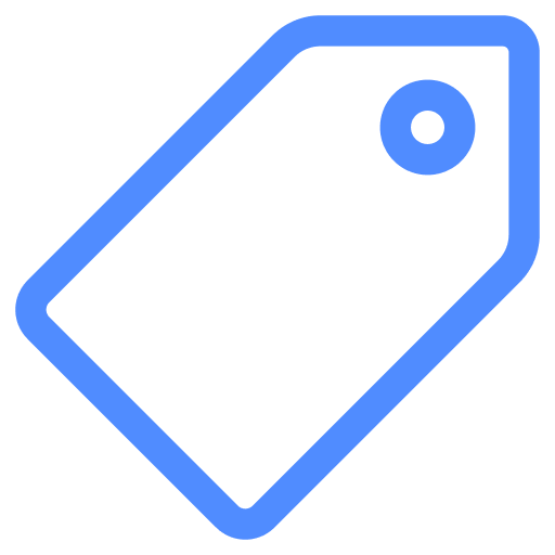 blue sale tag icon
