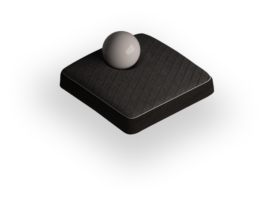 Mattress Section with bowling ball showing contouring