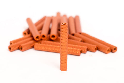 M3 Knurled Standoff Orange 35mm