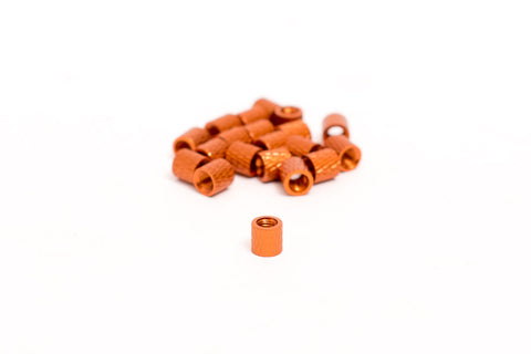 M3 Knurled Standoff Orange 5mm(20Pcs)