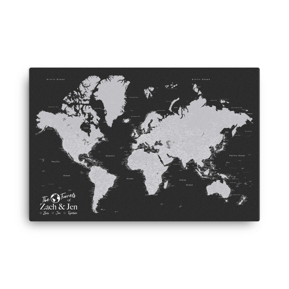 personalized travel map
