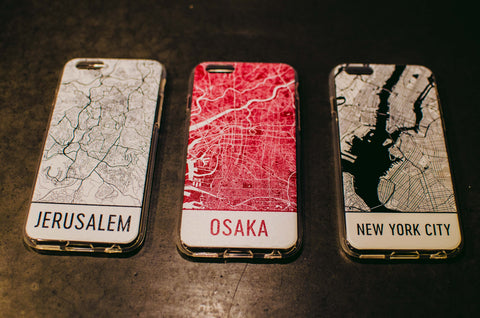 3 map phone cases