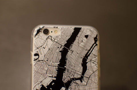ny map phone case