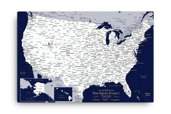 Custom Push Pin Travel Maps - World & USA With 1,000 Pins! – Modern ...