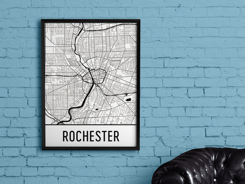 city print of rochester
