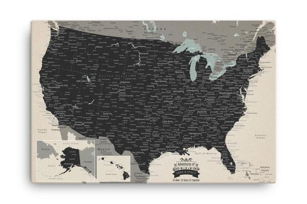 Custom Push Pin Travel Maps World Usa With 1000 Pins Modern - Us-pin-map