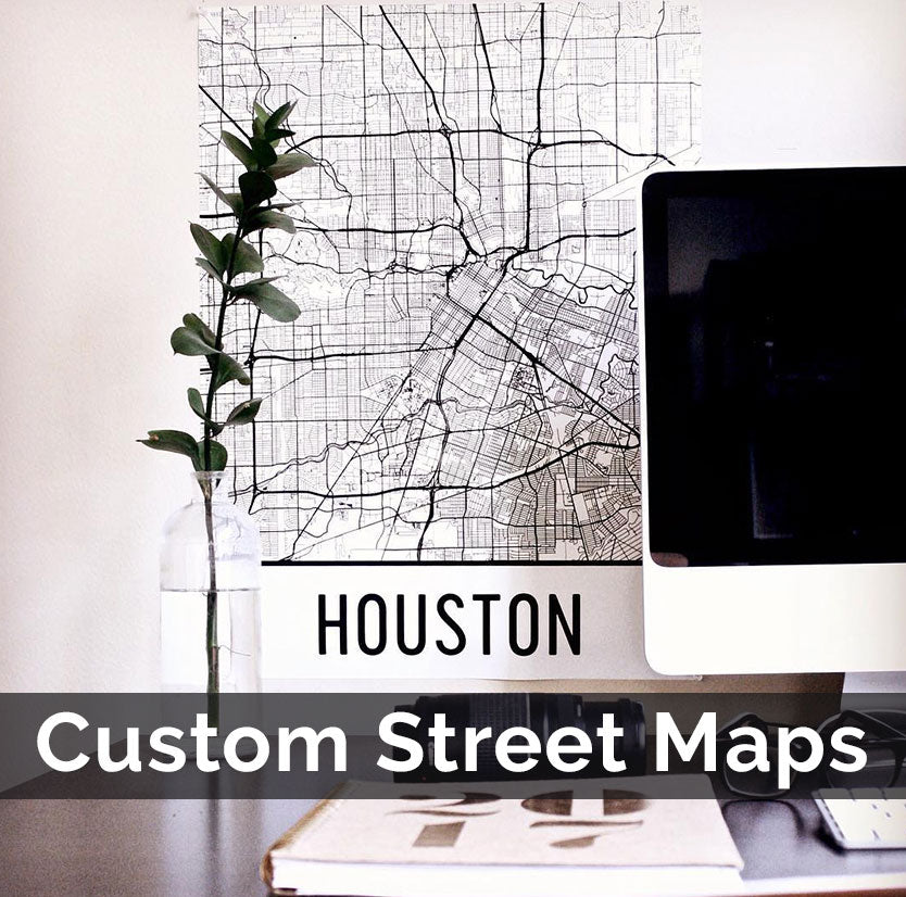Custom Map Art, City Map Prints, and Personalized Wall Maps