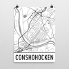 Conshohocken Street Map Poster White