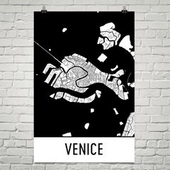 Venice Italy Street Map Poster
