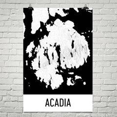 Acadia National Park Topographic Map Art