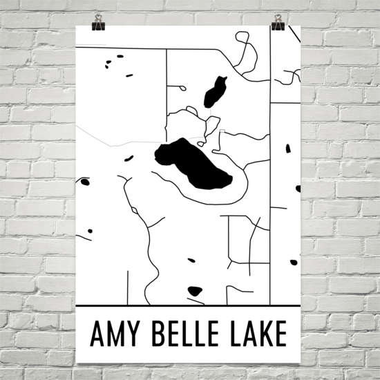 Amy Belle Lake WI Art and Maps