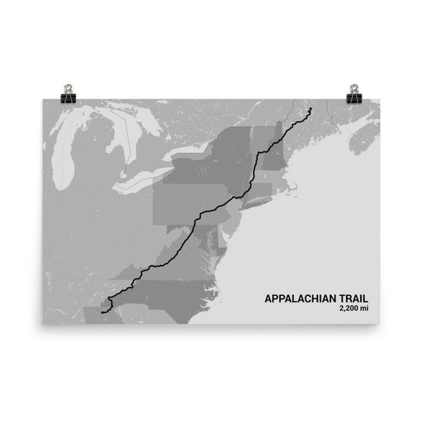 Appalachian Trail Map Art Prints