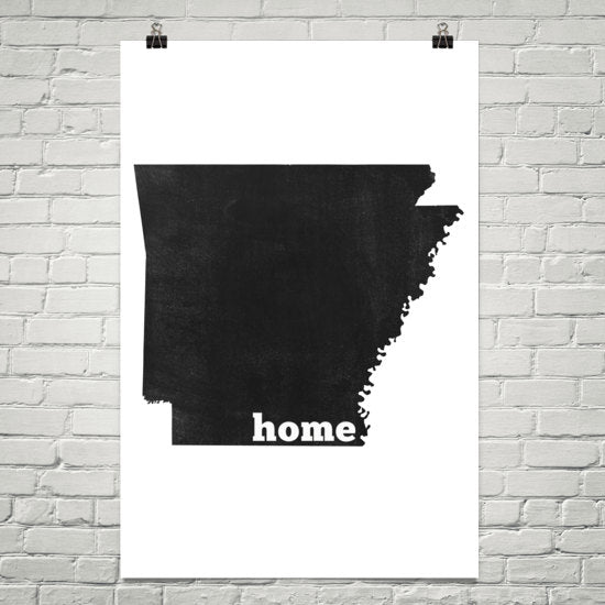 Arkansas Home State Map Art