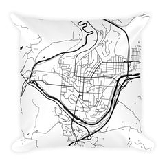 Athens Map Pillow – Modern Map Art